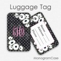 Anemone flowers personalized luggage tags gift