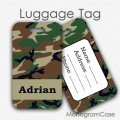 Camo design custon name luggage tags