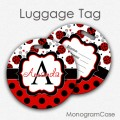 Cute ladybygs personalized red luggage tag