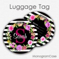 Personalized luggage tag floral wreath travel accessories